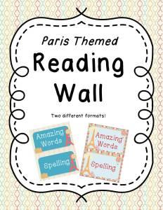 Reading Focus Wall Paris